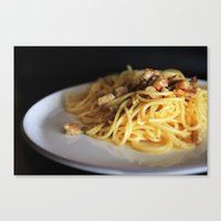 pasta Canvas Prints featuring Pasta by alemazza