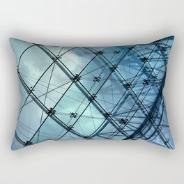 Glass Ceiling VI (Landscape) - Architectural Photography Rectangular Pillow