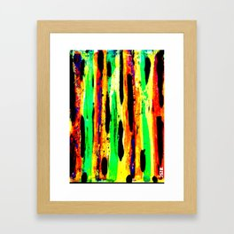 paint pattern 2 (red yellow & orange & green & blue) Framed Art Print