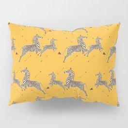 Royal Tenenbaums Zebra Wallpaper - Mustard Yellow Pillow Sham