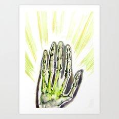 A strange glow Art Print