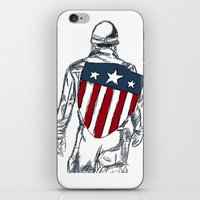 chris evans iPhone & iPod Skins featuring Captain America (Chris Evans) by  Steve Wade ( Swade)
