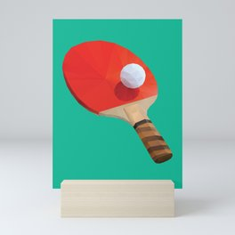 Ping Pong Paddle polygon art Mini Art Print