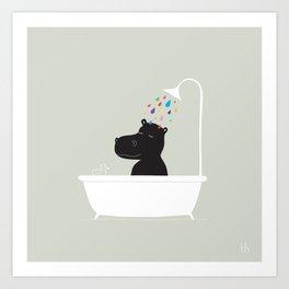 The Happy Shower Art Print