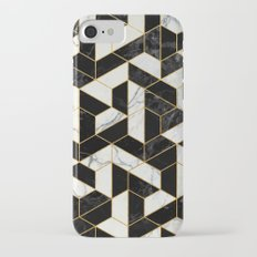 Black and White Marble Hexagonal Pattern iPhone 7 Slim Case
