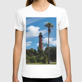 Jupiter Lighthouse Color Tropical / Coastal Landscape Photograph T-shirt