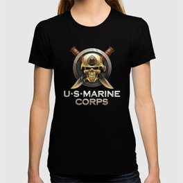 Military badge with marine skull T-shirt
