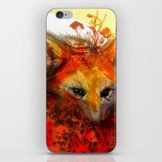 Fox in Sunset III iPhone & iPod Skin