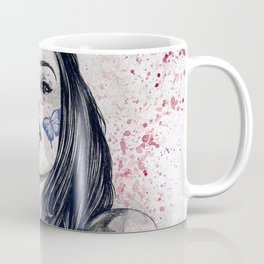 Nothing Violates This Nature: Blue (erotic drawing, nude butterfly girl) Coffee Mug