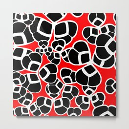 "Koloman (Kolo) Moser ""Textile pattern (Cloverleaf / Shamrock)"" (1) Metal Print"