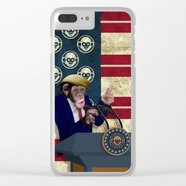 PRESIDENT of THE APES iPhone 4 4s 5 5c 6 7, pillow case, mugs and tshirt Clear iPhone Case