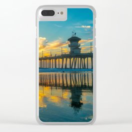 Reflections of a Huntington Sunset Clear iPhone Case