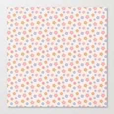 Colourful Floral Pattern Canvas Print