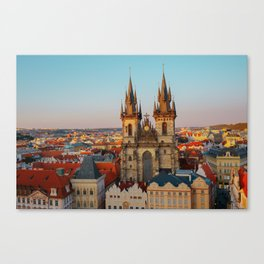 Orange Roofs of Prague Canvas Print