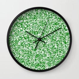 Tiny Spots - White and Green Wall Clock