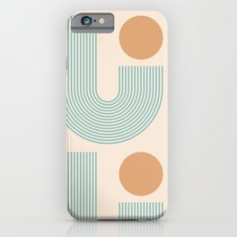 Abstraction_SUN_LINE_VISUAL_ART_Minimalism_003A iPhone Case