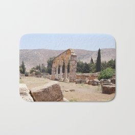 Old Ruins & Mountains Bath Mat
