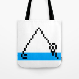 Pixel Art Yoga Downward Dog Pose Tote Bag