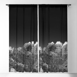 Zion Park View in B&W Blackout Curtain