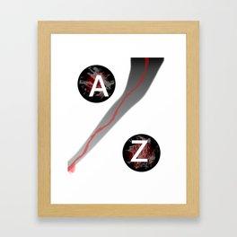 AZ. Framed Art Print