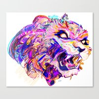 hunting Canvas Prints featuring Hunting by Bea Toa