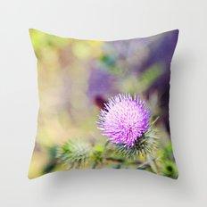 Wild Thistle Throw Pillow