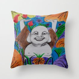 WEDDING BUDDAH-2 Throw Pillow