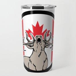 Canadian Stag Deer Canada Flag Icon Travel Mug