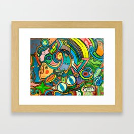 Krazy Kitchen! Framed Art Print