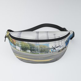 The plane at the airport on road Fanny Pack