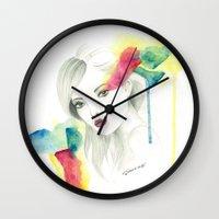gemma Wall Clocks featuring Gemma Ward by Simona Borstnar
