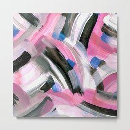 Crossing Pink Metal Print