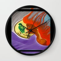 sister Wall Clocks featuring SISTER by KEVIN CURTIS BARR'S ART OF FAMOUS FACES