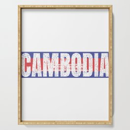 Cambodian Flag Vintage National Cambodia Country Gift Serving Tray