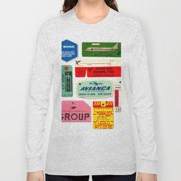 Vintage Luggage Tags 2 Long Sleeve T-shirt