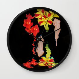 Melting Women and Orchids Wall Clock