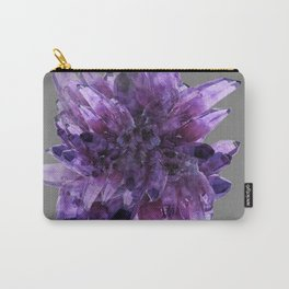 PURPLE AMETHYST QUARTZ CRYSTALS MINERAL SPECIMEN Carry-All Pouch