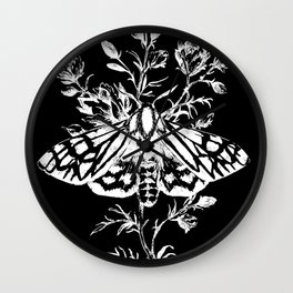 butterfly black Wall Clock