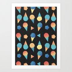 Cosmic Cream Art Print