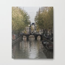 The Canals of Amsterdam Metal Print