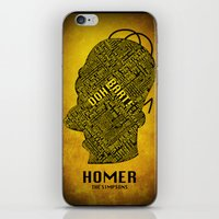 homer iPhone & iPod Skins featuring Homer by Matthew Cridland
