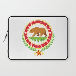 California Certified Stereotypes Flag Laptop Sleeve