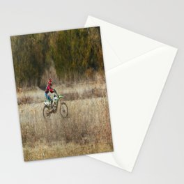 Dirt Bike Riding  Stationery Cards