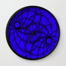 Purple and Black spirals Wall Clock