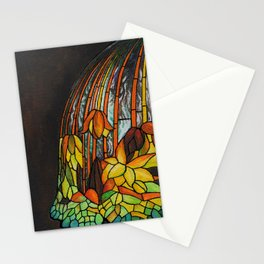 Dropping Flower Lamp Stationery Cards