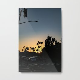 LA sunset Metal Print