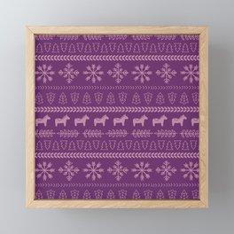 Scandinavian Christmas in Purple Framed Mini Art Print