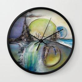Surabstract landscape Wall Clock
