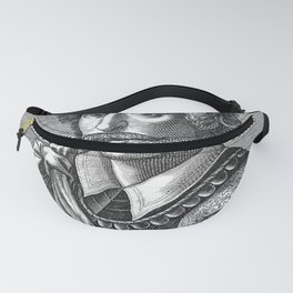 Classical etching of the Cartographer Fanny Pack