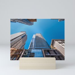 Looking up at MidCity Centre in Sydney Mini Art Print